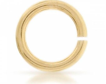 14Kt Gold Filled 18ga 5mm Open Jump Rings  - 10pcs  15% discounted Made in USA (4461)/1