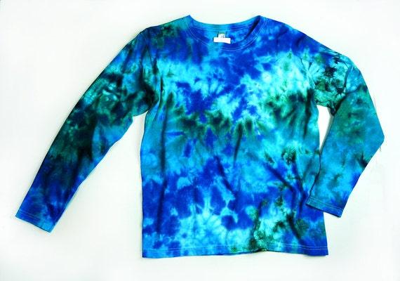 damen langarm tie dye frauen t shirt marmor ocean farben. Black Bedroom Furniture Sets. Home Design Ideas