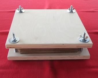 "Book - plant - flower - herb - botanical press -- 3/4"" veneer plywood provides long-lasting strength"