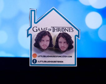 Jon Snow / Kit Harington - Game of Thrones / Silver Earrings / Stud Earrings