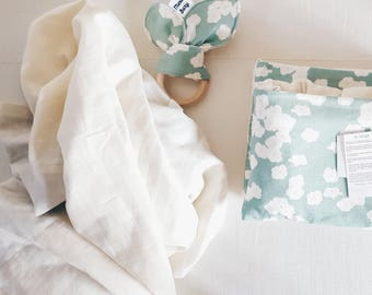 Great baby Swaddle organic unbleached organic - swaddling - birthday gift - gift non-toxic baby blanket - baby accessory
