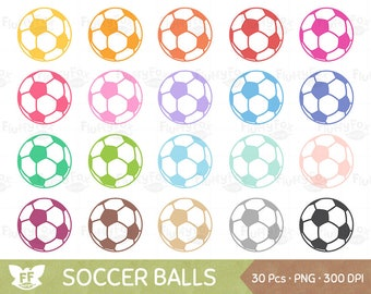 Soccer Clipart, Football Clip Art, Sport Balls Fitness Play Circle Workout Hobby Icon Cliparts Graphic Digital PNG Download, Commercial Use