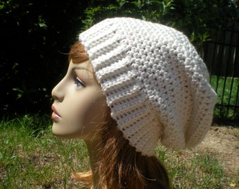 PATTERN: Banded Slouch, Easy crochet email PDF, Adult/ teen, unisex, seamless slouchy hat, InStAnt DoWnLoAd, Permission to Sell
