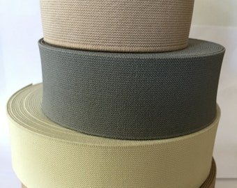 4 cm (1.6 in) wide neutral colors elastic waistband
