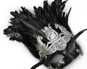Men's Masquerade Mask, Mardi Gras Mask, Masquerade Mask Men, Mardi Gras, Masquerade Mask, Antique Silver Hercules Warrior Masquerade Mask