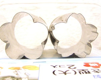 Japanese  Cookie Cutters Plum Cherry Blossoms Perfect For Food Or Clay