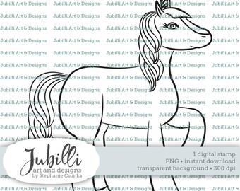 Unicorn Digital Stamp, PNG stamp, Unicorn digi, Magical Creature Digi, Digi Stamp, Magical Digi, Medieval Digital, Fantastic Beast Digi
