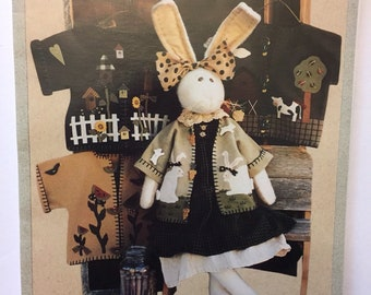 Bunny doll sewing pattern - 4 seasonal coats