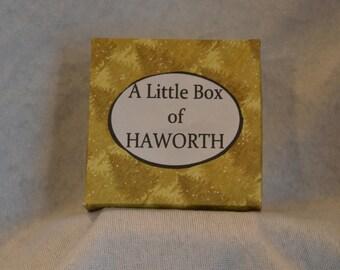 The Little Box of Haworth - Brontë, Yorkshire Souvenir, Gift, Sentimental gift, Handmade