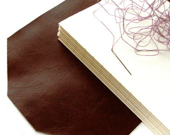 Extra 60 pages for 8 x10 blank custom leather journal or leather sketchbook