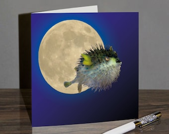 Puffer Fish Moon Card - Moon Puff MP01