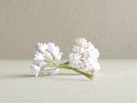 10mm white gypsophila 20pcs mulberry paper flowers with mightylinksfo