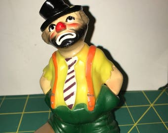 Vintage Wilton Sad Clown Cake Topper circa 1977