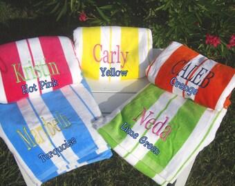 beach towels personalized cabana stripe beach towels large