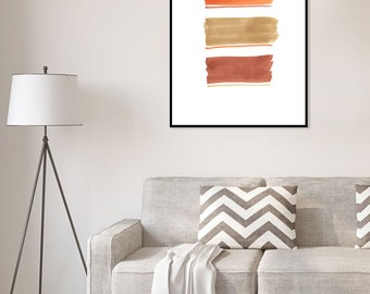 Wood color lines, abstract contemporary modern wall art print
