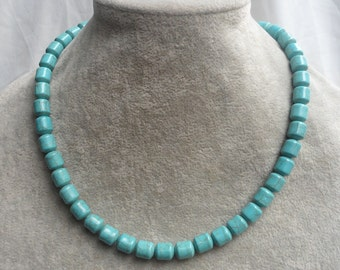 Turquoise Necklaces, 18 Inches 8x10mm  bead  Necklace,Wedding Jewelry,Necklace,Pearl necklace,Bridesmaid necklace,Wedding necklace,Jewelry