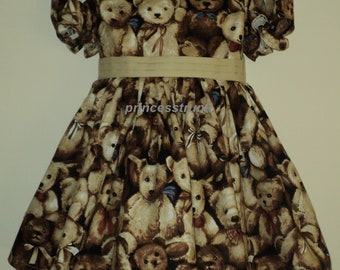 NEW Handmade Cute Teddy Bears Dress Deluxe Custom Size