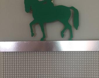 Green Dressage Horse Rosette Holder