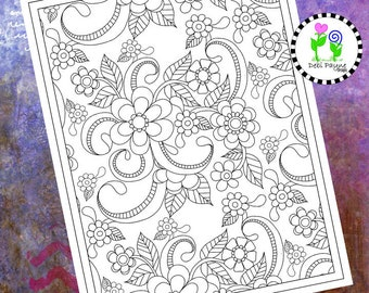 Abstract Doodle Design 21 Instant Download Coloring Page
