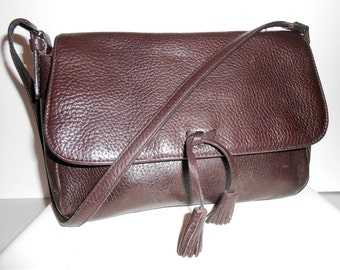 Ann Taylor Genuine Leather Handbag Purse Brown