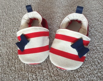 Sailor and leather slippers