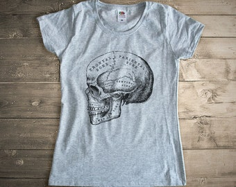 Skull T-shirt-anatomy skull t-shirt-Christmas gift-skull tank top-men tees-women tees-sugar skull vest-sugar skull shirt-NATURAPICTA-NPTS113