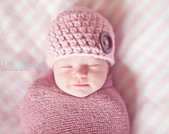 33 Colors Newborn Hat Newborn Baby Hat Newborn Baby Girl Hat Newborn Baby Boy Hat Wood Button Baby Beanie Photo Prop Photography Prop