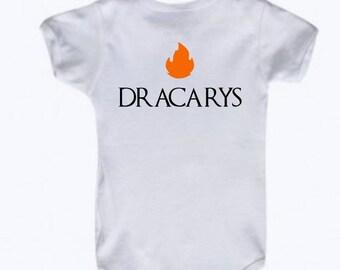 Dracarys Baby Bodysuit, Game of Thrones Bodysuit, Khaleesi Bodysuit, Dragon Baby Bodysuit, Fire, daenerys targaryen, house targaryen, romper