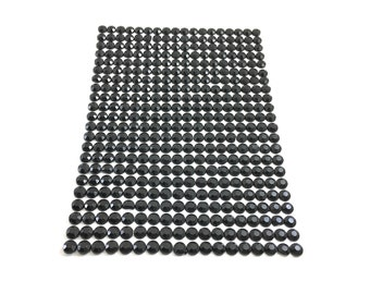 Black Self-Adhesive Stick-On Gems/Rhinestones/Jewels/Acrylic Gems/Bling | 4mm | 396 Count | Craft Supplies | ShimmerWorks