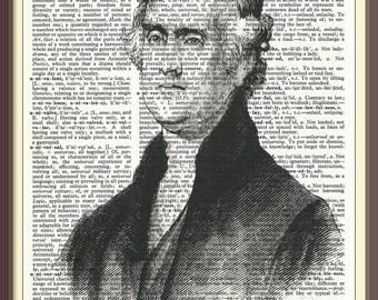 Thomas Jefferson 3rd U.S. President///Vintage Dictionary Art Print---Fits 8x10 Mat or Frame