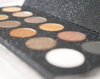 Neutral Eye Shadow Palette, Pressed Neutral Eye Shadows, Vegan Pressed Eye Shadow, Pressed Eyeshadow Pan, Gift for Her, Stocking Stuffer