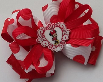 Resin Miss Mouse Boutique Style Hair bow