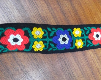 Fun and Funky Vintage 1960's Floral Trim