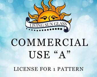 Commercial Use A - Upgrade To Commercial License - Commercial License for Stained Glass Patterns