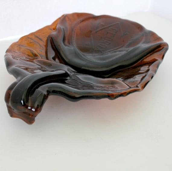 Vintage Clorox Amber Bottle Bowl Tray | Pop Art Glass Sculputure Centerpiece
