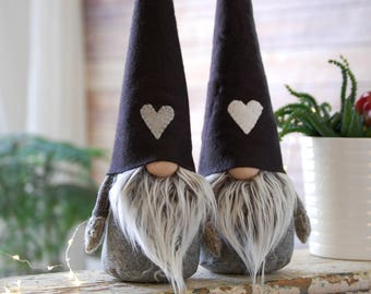 """Nordic Gnome with arm-  LARGE 16"""" gnome , scandinavian tomte, Handmade by NordiKatja Authentic Nordic Gnome * NEW DESIGN*"""
