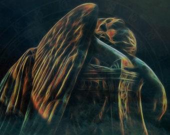 Angel of Grief -- Original Signed Fine Art Print (8x10 or 5x7)