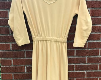 Vintage mustard yellow dress