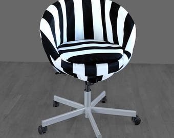 Black White Stripe IKEA SKRUVSTA Chair Cover