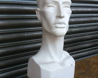 Vintage mannequin head - salvaged from optometrist office