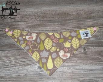 Bib scarf: romantic birds (old model)