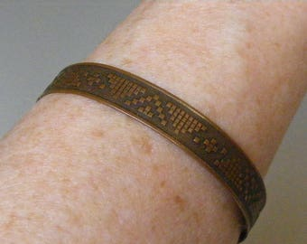 Vintage Southwest  Copper Cuff Bracelet..... Lot 5702