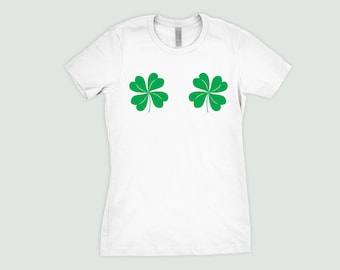 St Patricks Day Shirt - Mens and Ladies Sizes - Funny St Patties day shirt - chest Shamrok shirt four leaf clover t shirt 4 leaf clover tee