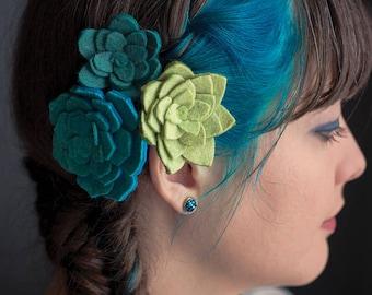Blue Green Druzy Crystal Earrings | ATL-E-157