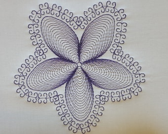 Folwer 1 quilt block / quilting design for embroidery machine