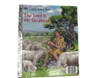 The Lord is My Shepherd - Little Golden Book - Christian Book - 1980s Childrens Book - Christmas Book - Sunday School - Vintage Church