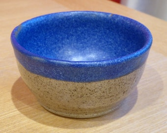 Indigo Blue Stoneware Ceramic Decorative Bowl