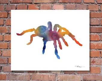 Tarantula Spider Art Print - Abstract Watercolor Painting - Wall Decor
