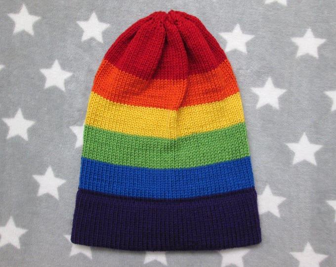 Knit Pride Hat - LGBT Rainbow - Slouchy Beanie