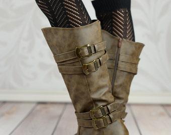Black Chevron Laced Boot Cuffs